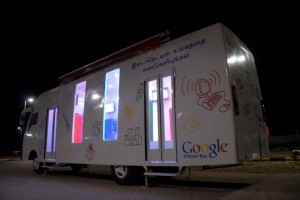 dsc 0065 300x200 Google Introduces Internet Bus in India