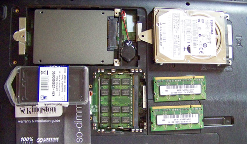 SSD RAM replace The Notebook makeover   Kingston SSD/RAM upgrade and clean OS install