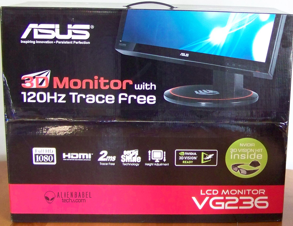 asus display box 3D Vision Mega Evaluation   Gimmick or Gamings Future?