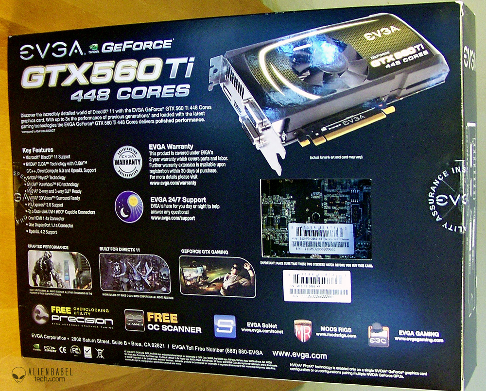 Box obv Introducing the new EVGA GTX 560 Ti 448 Core FTW