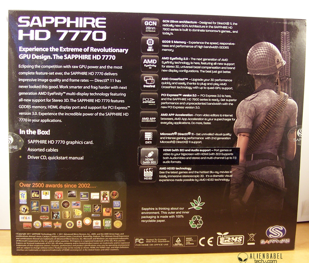 Sapphire's Overclocked to the Max HD 7770 GHz Edition - AlienBabelTech