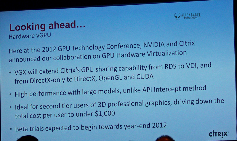 Citrix lookingahead Nvidias GTC 2012