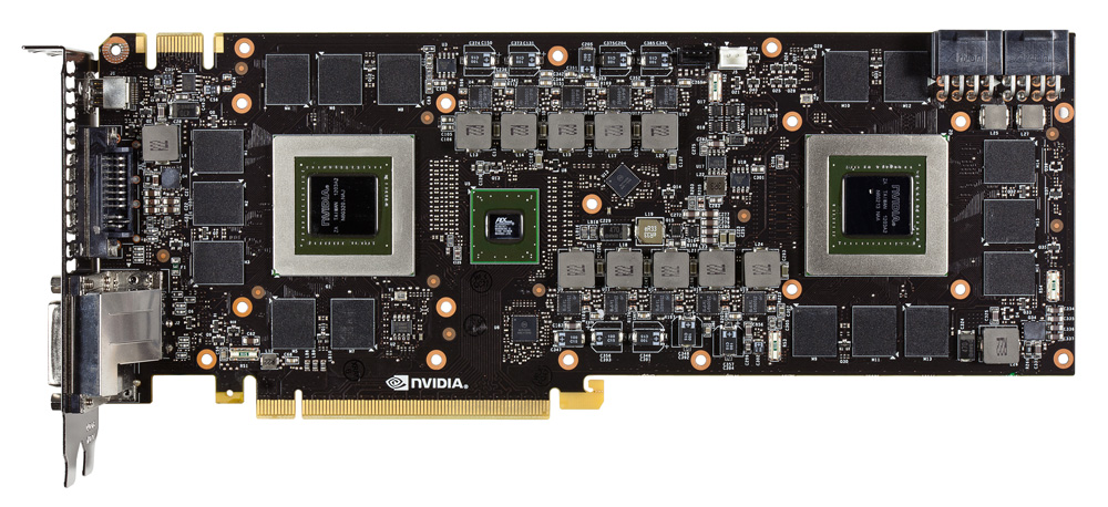 GeForce GTX 690 F bare PCB The GTX 690 Arrives   Exotic Industrial Design takes the Performance Crown!