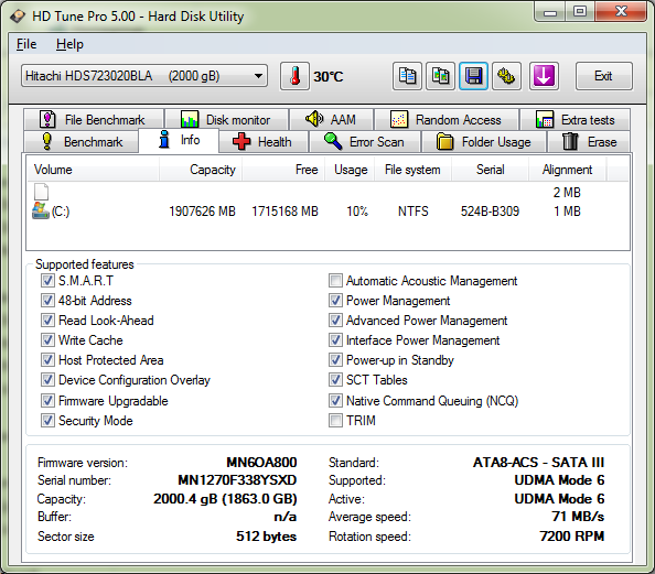 4 Hitachi 2TB Deskstar 7K3000 Hard Drive, an Alien View