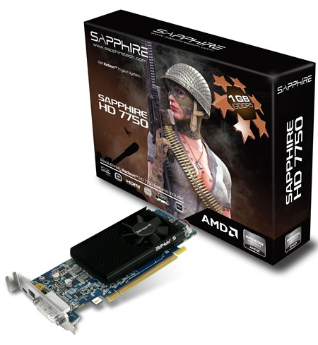 Proimage Sapphire HD 7750 Low Profile edition   for mini HTPC and light DX11 gaming