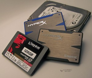 3ssds 1hdd 300x255 Exploring Frame time measurement   Part 2   Is the SSD smoother than the HDD in Gaming?